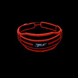 Пояс тканинний подвійний вузький RED, BLACK